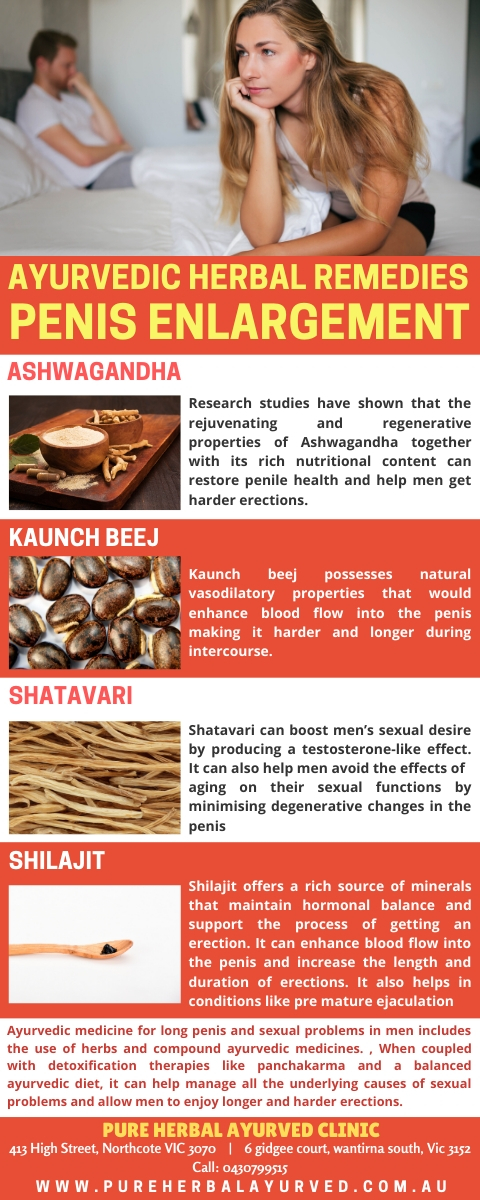 Ayurvedic Herbal Medicine to increase penis size, length and width