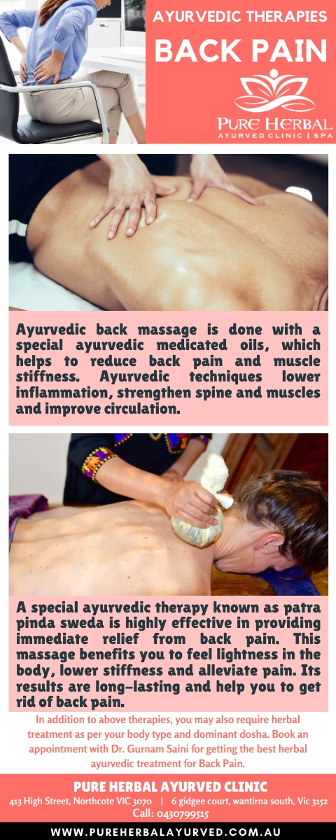 Ayurvedic Natural Treatment for Back Pain In Melbourne