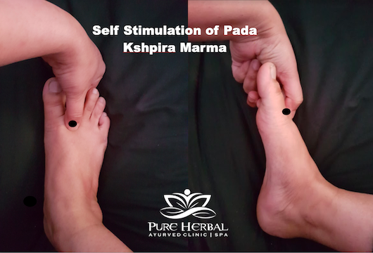 Kshipra Marma Therapy stress, headache, insomnia Ayurveda Treatment