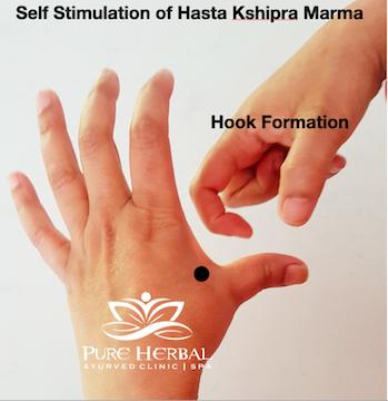 Hand Kshipra Marma Therapy Ayurveda