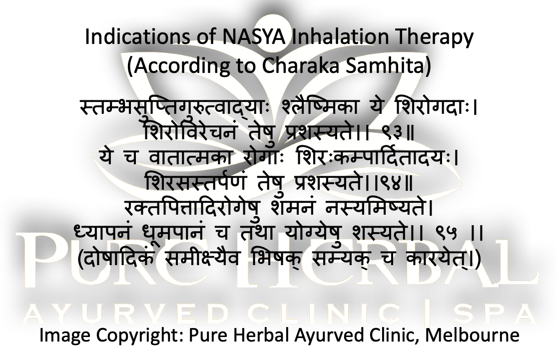 what is Nasya Pure Herbal Ayurved Clinic