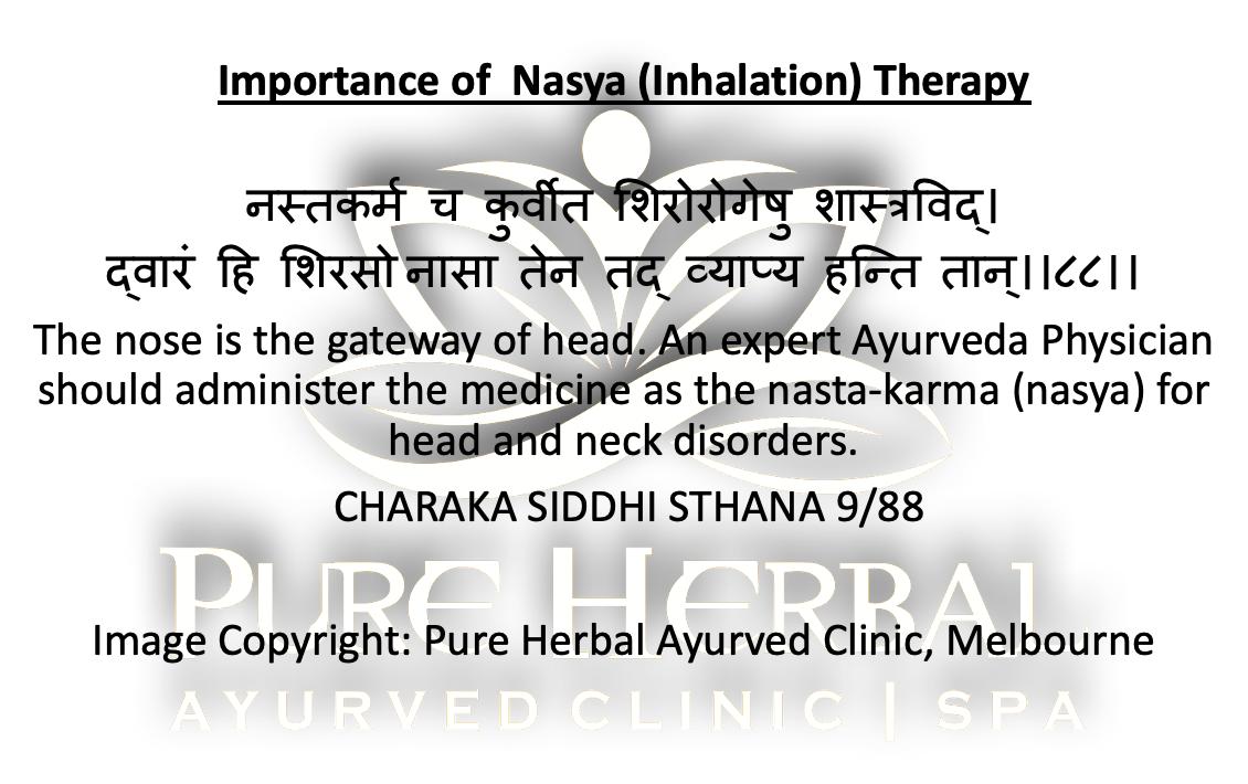 Nasya Ayurvedic Medicine Pure Herbal Ayurved Clinic Melbourne